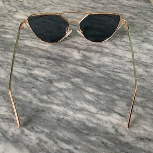 Accessories - Rose Tinted Sunglasses with Gold Rims
